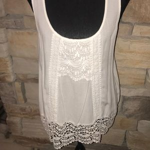 Buckle daytrip white sleeveless top Large